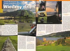 """Magazine 4X4 Off Road; article: """"Wieczny dzień"""""""